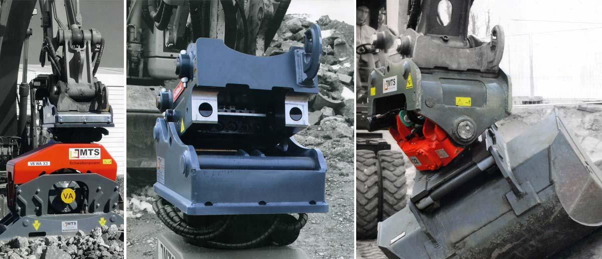 Schnellwechselsysteme und Spezial-Anbaugeräte im Tief- und Straßenbau